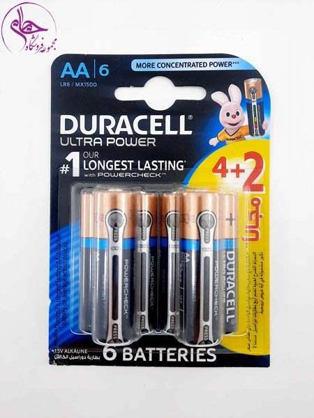 باطری قلمی2+4عددی دوراسل  ultra aa6